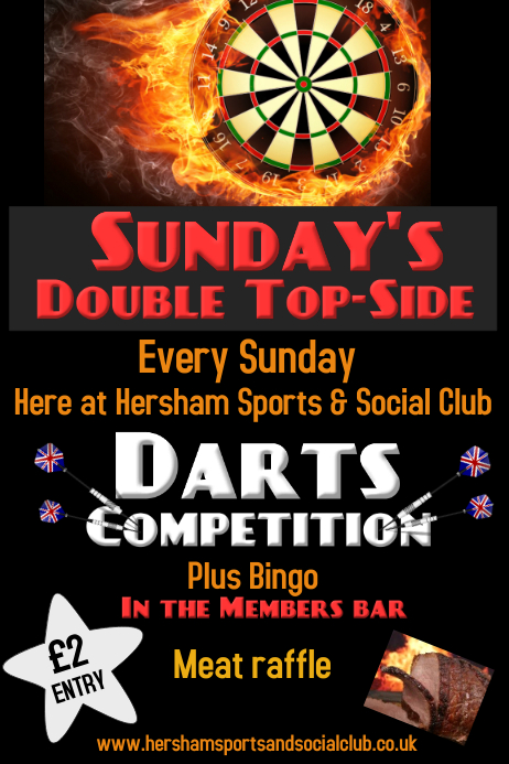 Darts Competition Poster