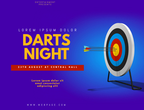 Darts Event Flyer Template
