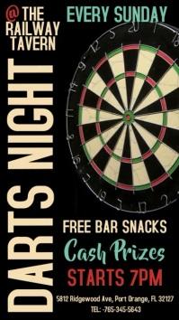 Darts Night Contest Digital Template
