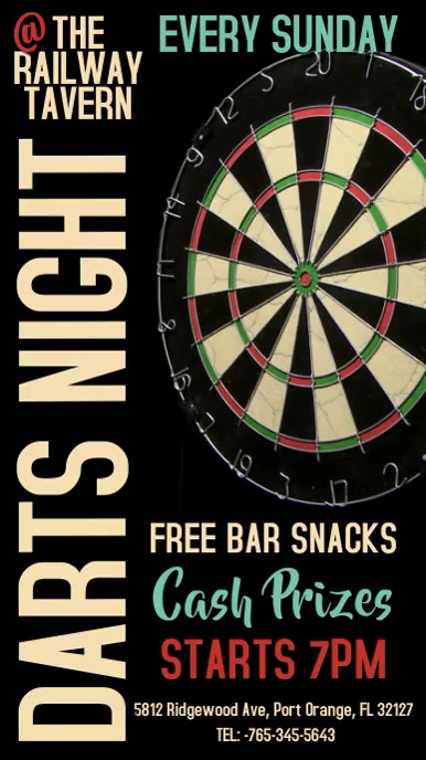 Darts Night Contest Digital Template 数字显示屏 (9:16)