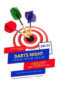 Darts Night Flyer Template