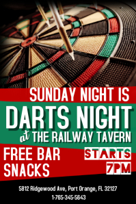 Darts Night Flyer Tmplate Poster template