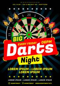 DARTS POSTER A4 template