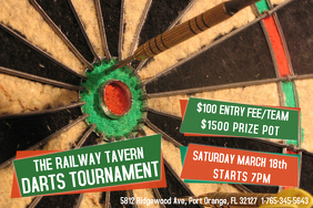 Darts Tournament Template Flyer