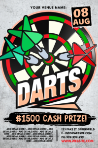 Darts Tournament Poster Plakkaat template