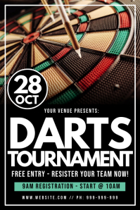 Darts Tournament Poster