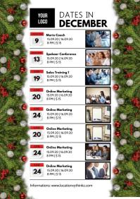Dates Time Table Event List Calendar Advert