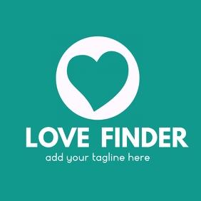Dating app heart logo icon