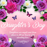 daughter's day, happy daughter's day Instagram-bericht template