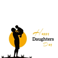 daughters day Instagram-opslag template