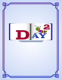 DAY 2 Book Cover Løbeseddel (US Letter) template