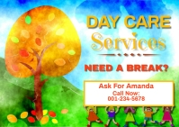 Day Care Flyer Template Postcard