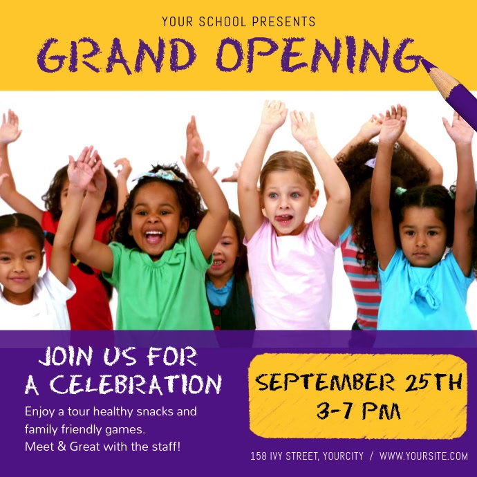 Day Care Grand Opening Square Video