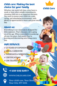 Day Care Service Banier 4'×6' template