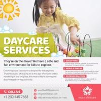 Day Care Service Instagram Video สี่เหลี่ยมจัตุรัส (1:1) template