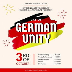 Day of German Unity Event Square Video