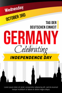 Day of German Unity Poster with Silhouettes