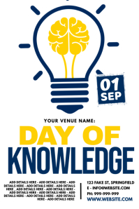 Day Of Knowledge Poster template