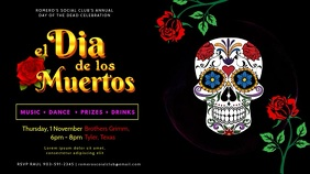 Day of the Dead Event Video Ad Template Digital na Display (16:9)