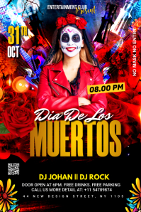day of the dead poster Баннер 4' × 6' template