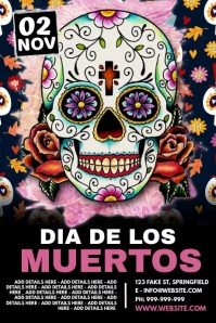 Day Of The Dead Poster Plakat template