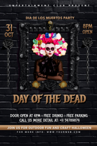 Day Of The Dead Posters Баннер 4' × 6' template