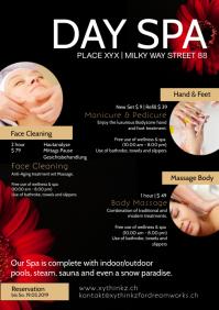 Day Spa Beauty Treatment Health Wellness Ad A4 template