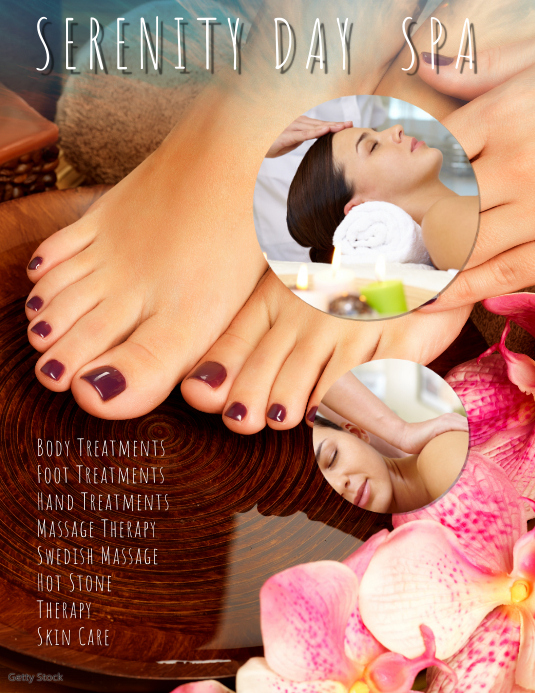 Day Spa Massage Flyer Template