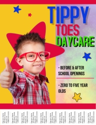 Daycare Flyer. Similar Design Templates  Pull Tab Flyer Template