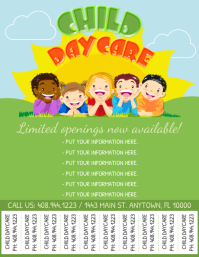 Daycare Flyer Løbeseddel (US Letter) template