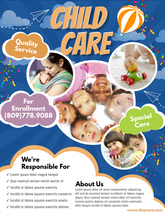 Daycare Flyer Pamflet (VSA Brief) template