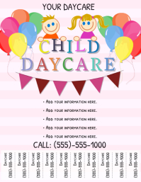 graphic relating to Free Printable Daycare Flyers referred to as 1,310+ Kid Treatment Customizable Design and style Templates PosterMyWall