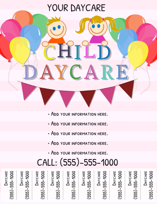 Daycare Flyer Template | PosterMyWall