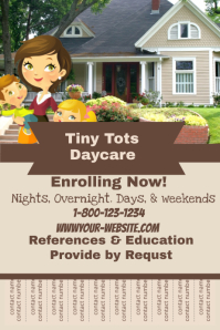 Customizable design templates for child care postermywall daycare flyer maxwellsz