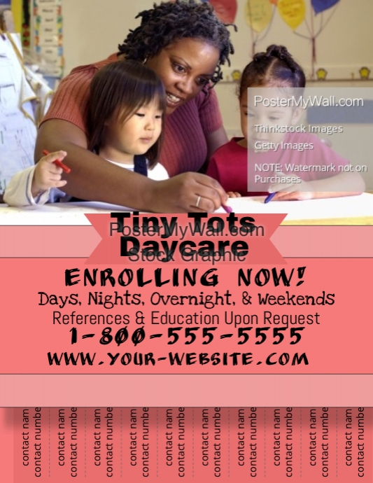 Daycare flyer. Template | PosterMyWall