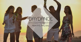 Daydance party Summer Dance Sun Party Ad Facebook begivenhed cover template