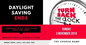 Daylight Saving Ends - Fall Back Sunday Churc template