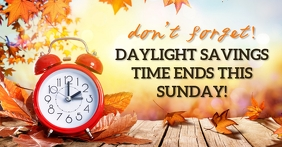 DAYLIGHT SAVING TIME ENDS TEMPLATE