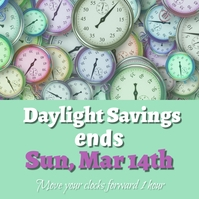 Daylight Savings โพสต์บน Instagram template
