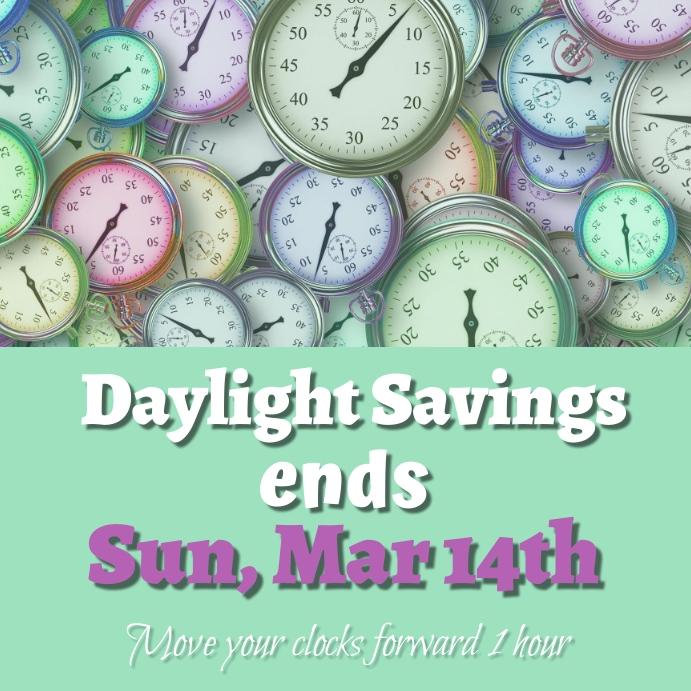 Daylight Savings Instagram-opslag template