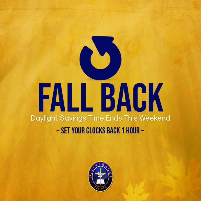 Daylight Savings Time Ends