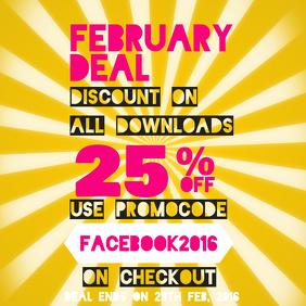 Retail Discount Instagram Post Template