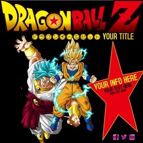 DBZ DRAGON BALL Z AD DIGITAL TEMPLATE