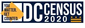 DC Census 2020 Banner Template แบนเนอร์ 2' × 6'