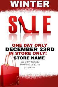 Winter Shoe Sales Event Template