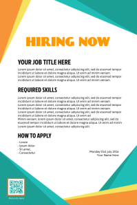 Hiring poster - PosterMyWall - Professionally designed template
