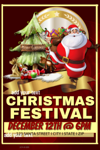 Christmas Festival Event Template โปสเตอร์