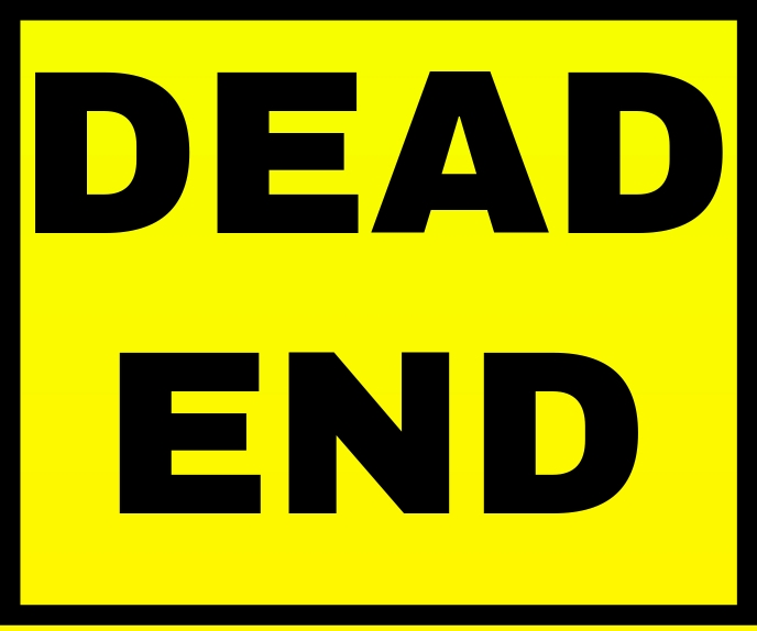 DEAD END POSTER TEMPLATE Grote rechthoek