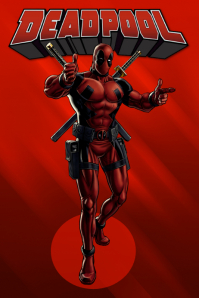 Deadpool poster marvel template