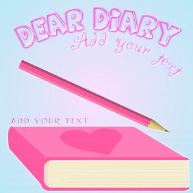 Dear diary - pink heart